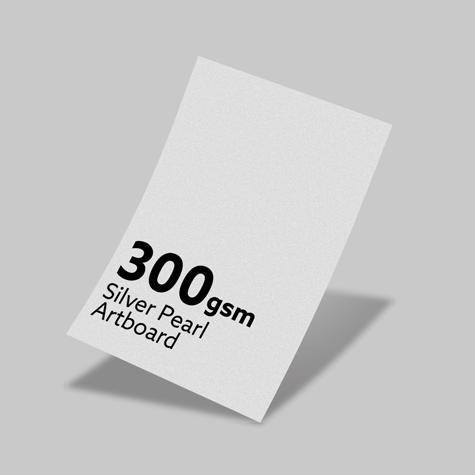 300gsm Silver Pearl Artboard