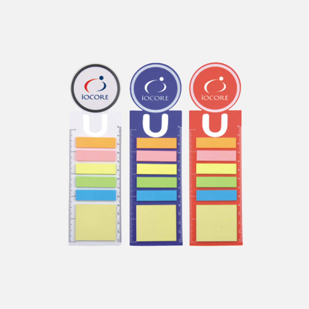 PP Sticky Notes with Boomark and Ruler