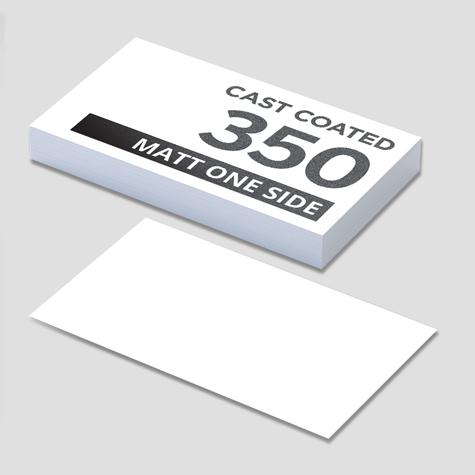 350 Cast Coated Artboard Matt 1 Side