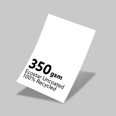 350gsm Ecostar Uncoated 100% Recycled Board