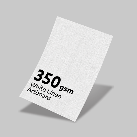 350gsm White Linen Artboard