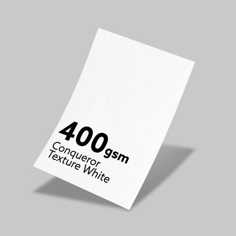 400gsm Conqueror Textured White