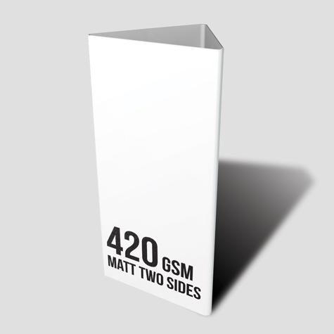 420gsm Matt Two Sided Table Talker