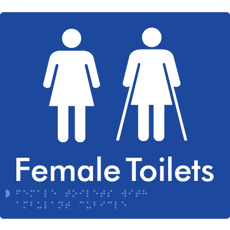 Female Toilet with Ambulant Cubical