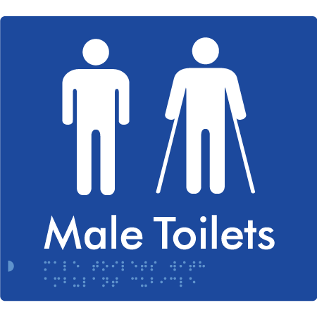 Male Toilet with Ambulant Cubical