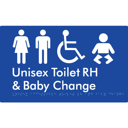 Unisex Accessible Toilet RH and Baby Change