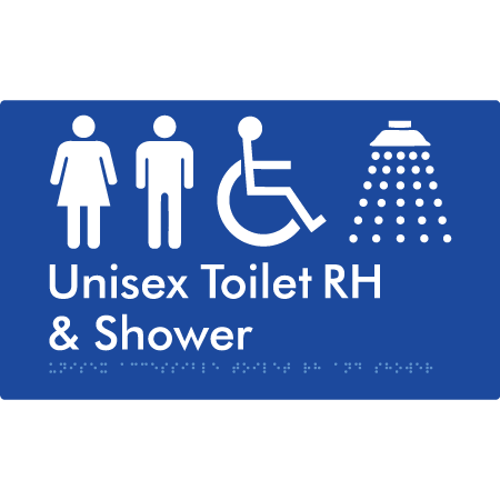 Unisex Accessible Toilet RH and Shower