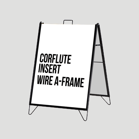 Corflute Insert Wire A-Frame Set