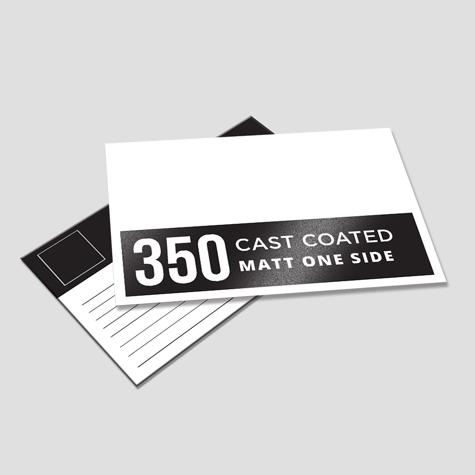 350 Cast Coated Artboard Matt One Side
