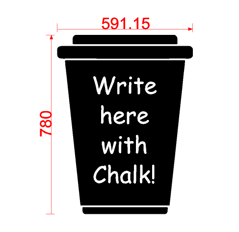Coffee Cup Blackboard Sticker