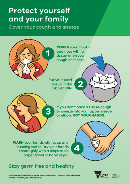 Cover your cough and sneeze