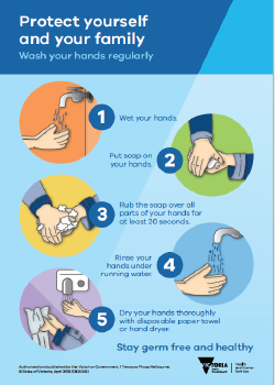 Wash your hands regularly