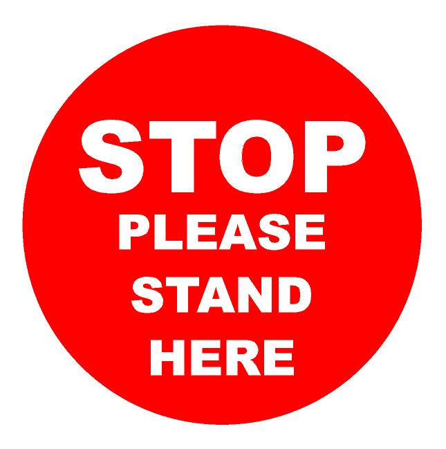 Stop - Stand Here Floor Stickers