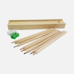 Wooden Colourful Pencil Set in Ruler Box 1